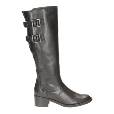 Clarks Valana Diem E Fit Black long boots