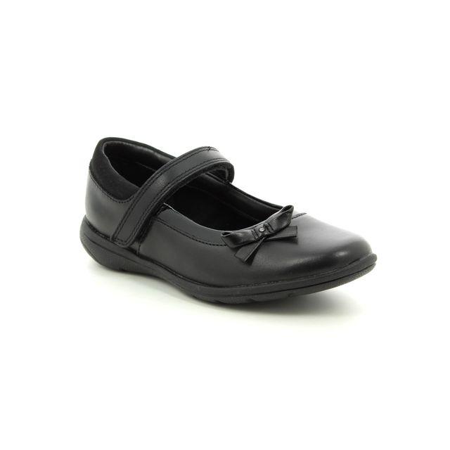 Clarks School Shoes - Black leather - 3491/17G  VENTURE STAR JN