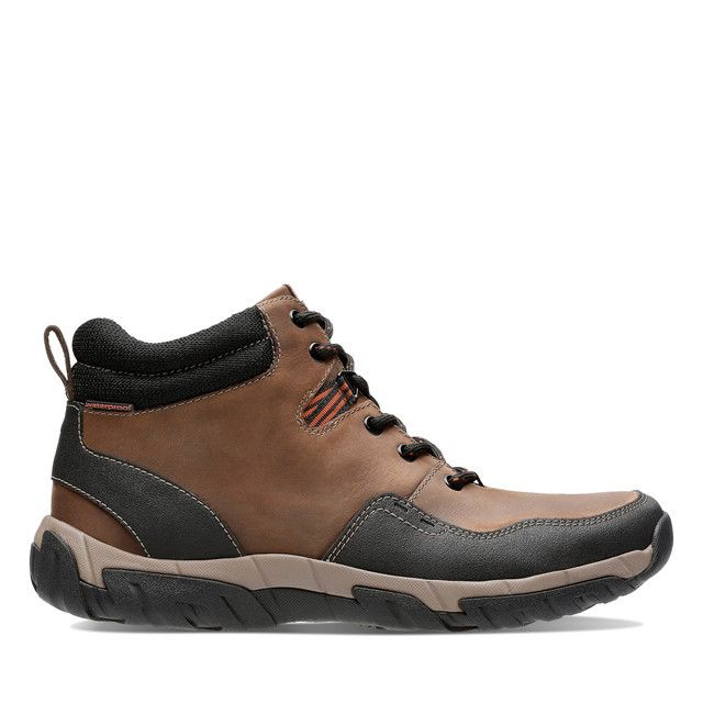 Clarks Boots - Brown leather - 3865/97G WALBECK TOP II