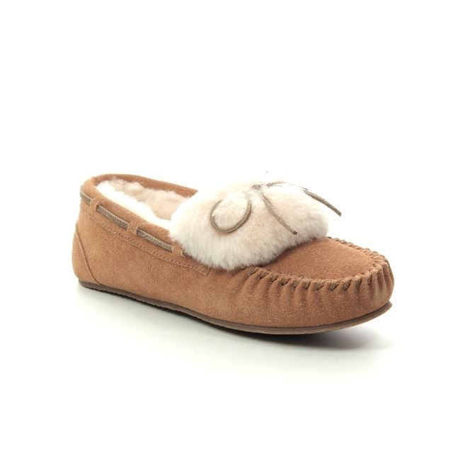 Clarks Slippers - Tan suede - 224864D WARM GLAMOUR