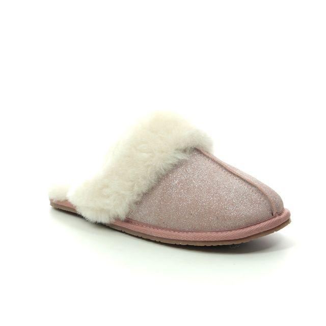 Clarks Slippers - Pink suede - 466564D WARM GLITZ