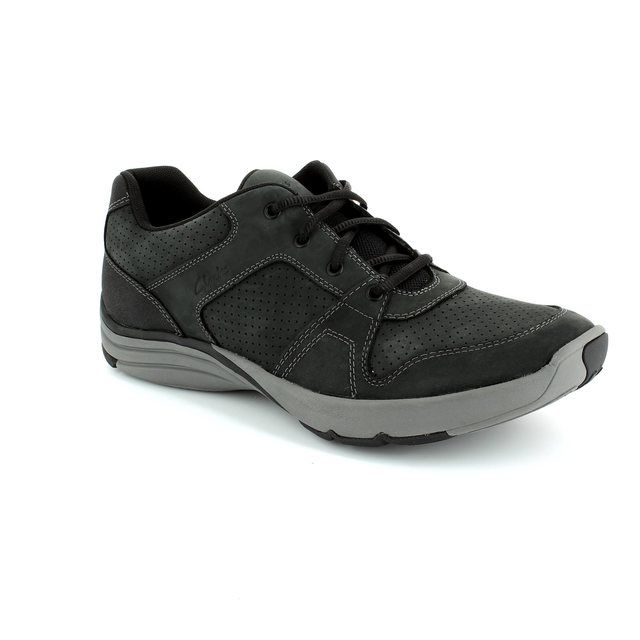 Clarks Wave Launch G Fit Black casual shoes