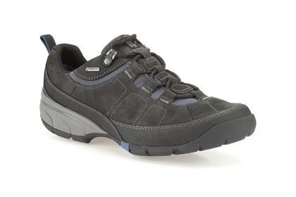 Clarks Wave Pass Gtx G Fit Black casual shoes