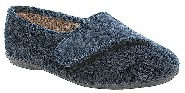 Clarks Wave Stir E Fit Navy slippers