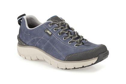 Clarks Wave Trail Gtx D Fit Navy lacing shoes