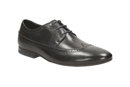 Clarks Whelan Limit G Fit Black fashion shoes