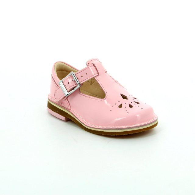 Clarks Yarn Weave Fst F Fit Pale pink first shoes
