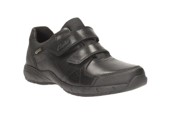 Clarks Zevifungtx Inf F Fit Black school shoes