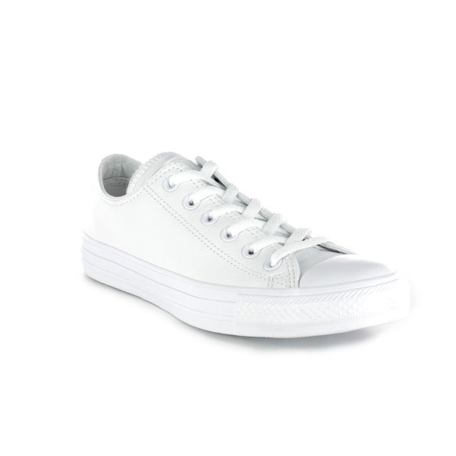 Converse Trainers - WHITE LEATHER - 136823C ALL STAR OX MONO