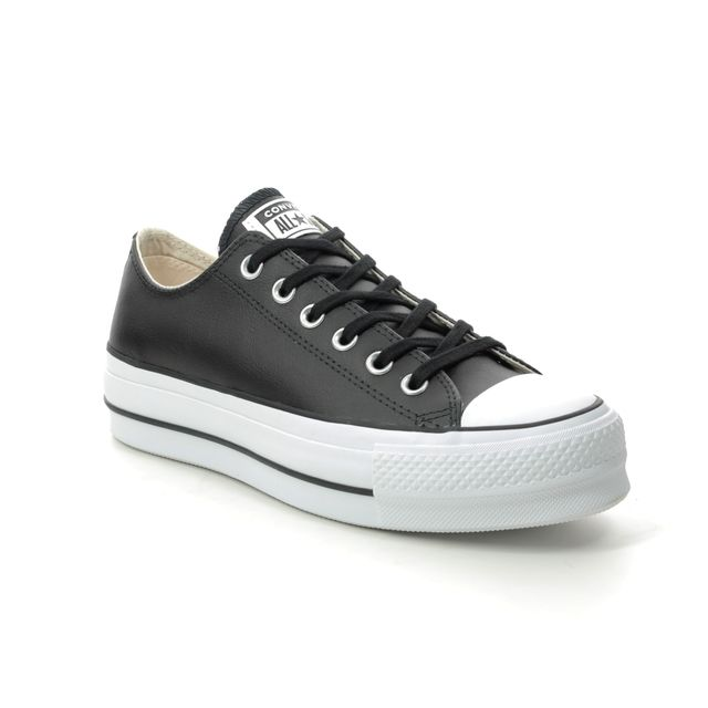 Converse Trainers - Black leather - 561681C/010 ALL STAR PLATFORM