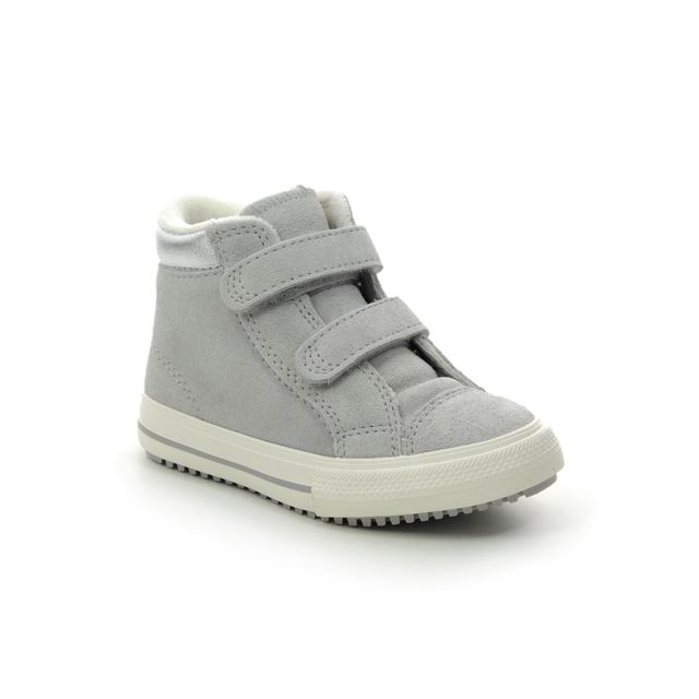 Converse Infant Girls Boots - Grey Suede - 766577C/005 ALLSTAR BOOT 2V INF