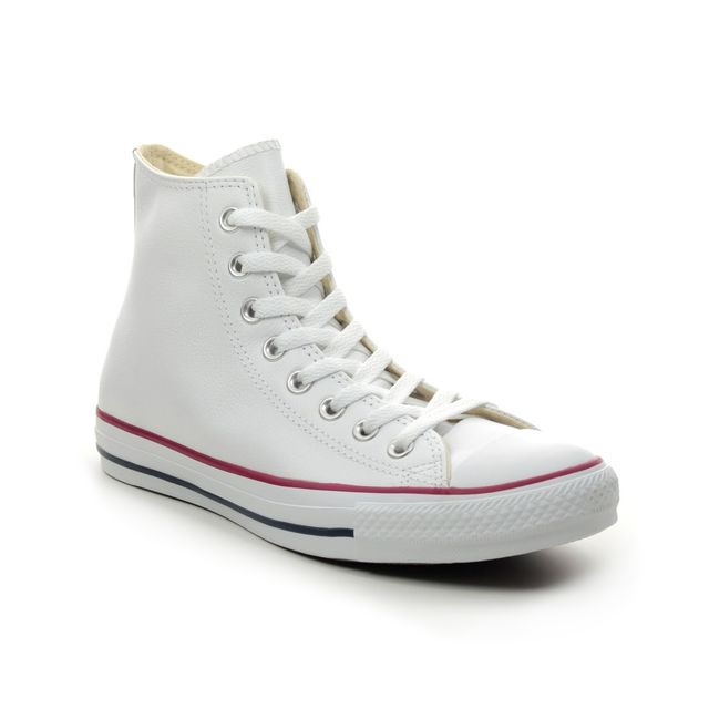 Converse Trainers - White Leather - 132169C/010 ALLSTAR HI