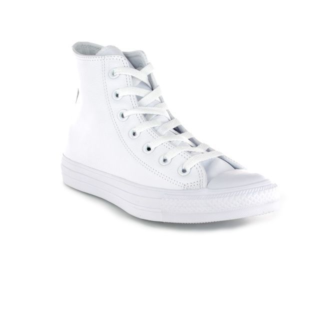 Converse Trainers - White - 1T406 ALL STAR HI Top Leather Mono