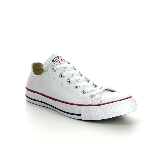 Converse Trainers - WHITE LEATHER - 132173C ALLSTAR OX Leather