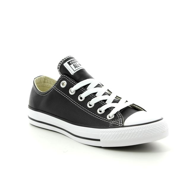 Converse Trainers - Black leather - 132174C ALLSTAR OX Leather