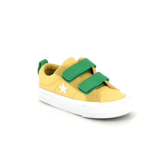Converse Trainers - Yellow - 760764C VELCRO ONE STAR OX 2V