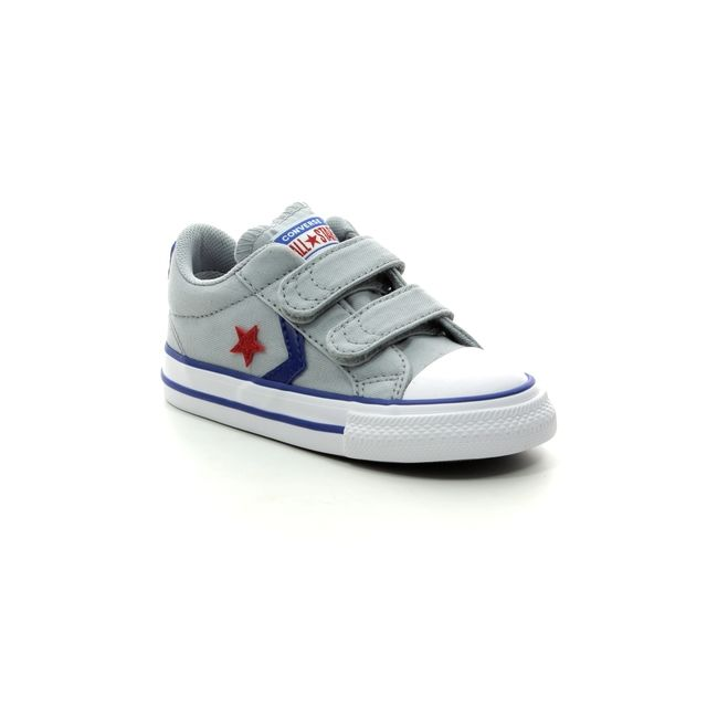 Converse Trainers - Light Grey - 763529C STAR PLAYER 2V VELCRO