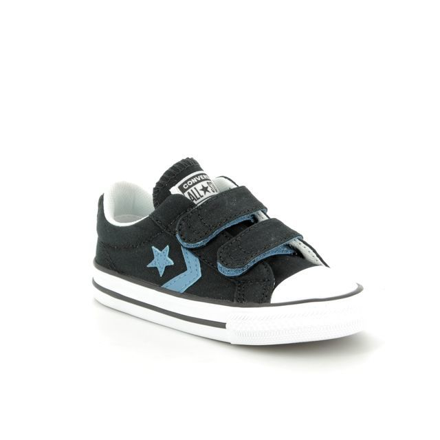 99a8ffaabfb7 Converse 656041C 102 Chuck Taylor All Star 3V OX White Velcro Trainers