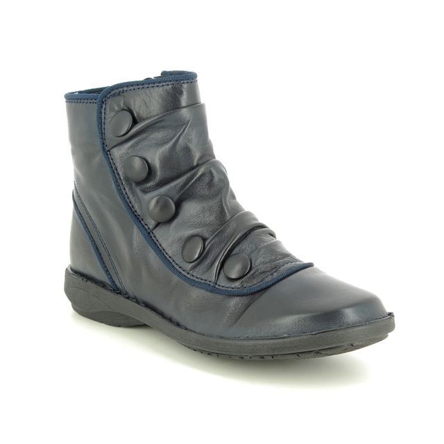 Creator Ankle Boots - Navy Leather - IB17935/70 SUFFLEBUT