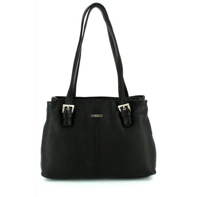 David Jones Buckle Hobo 0816-30 Black handbag