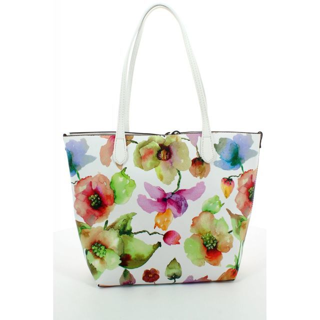 David Jones Cm3314 Shopper 3314-60 White multi handbag