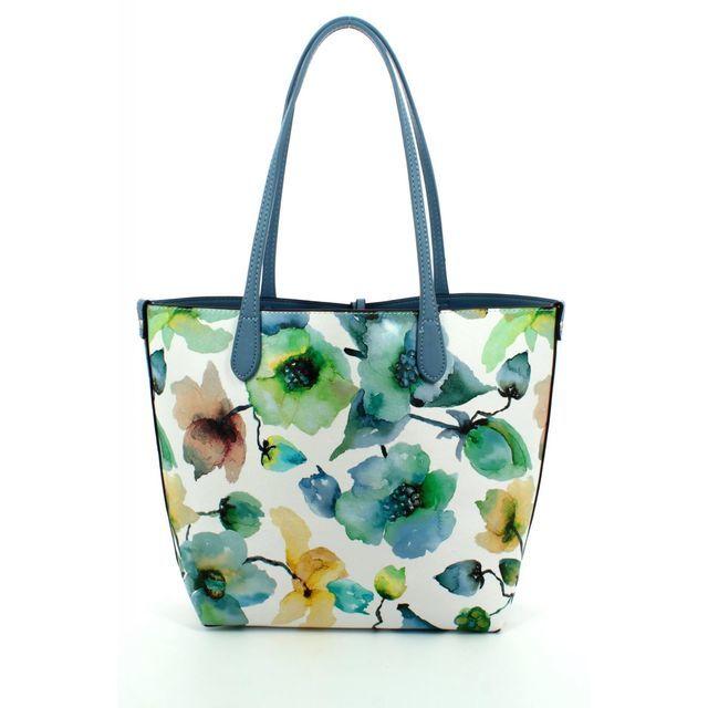 David Jones Cm3314 Shopper 3314-70 Blue multi handbag