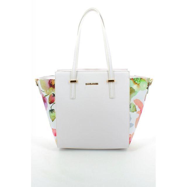 David Jones Hobo 5541-26 White multi handbag