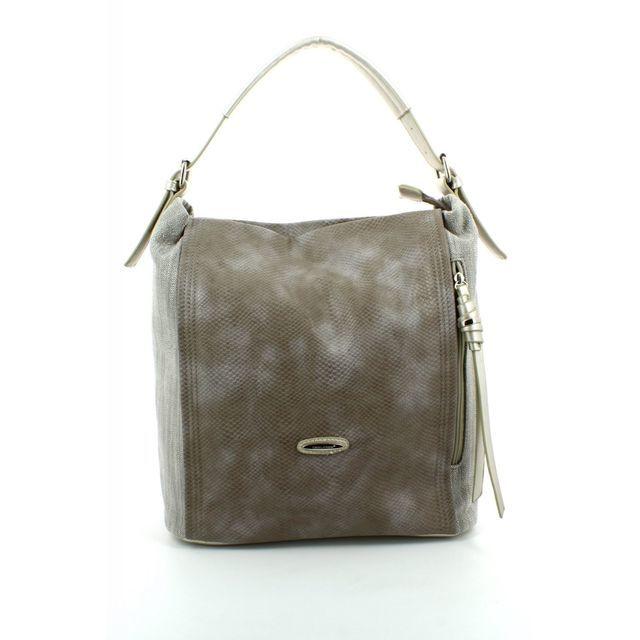David Jones Handbag - Taupe - 5517/15 5517-1 SLOUCHY