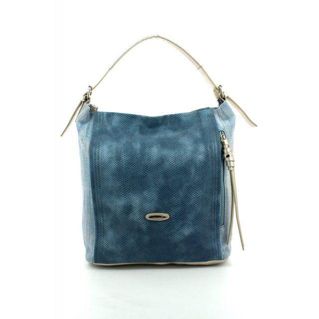 David Jones Slouchy 5517-17 Blue multi handbag
