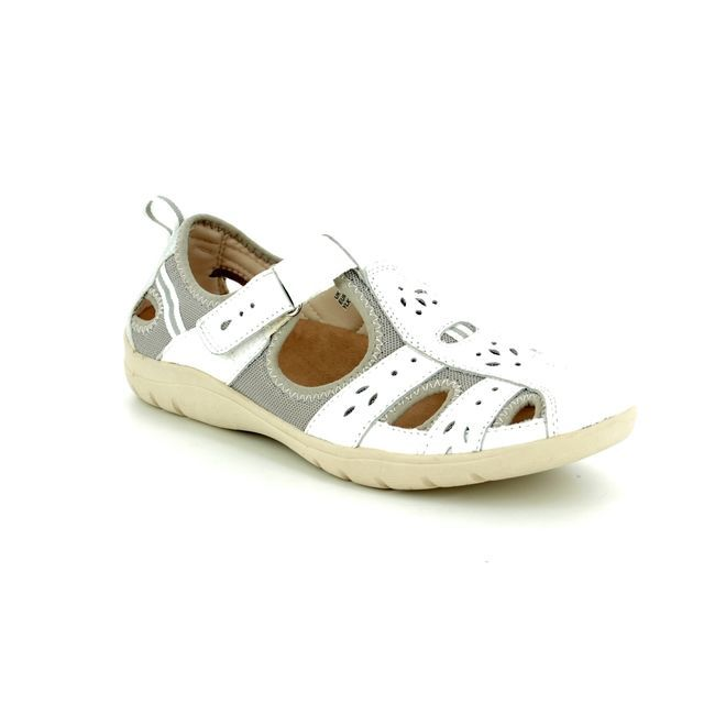 Earth Spirit Closed Toe Sandals - White - 28049/60 CLEVELAND