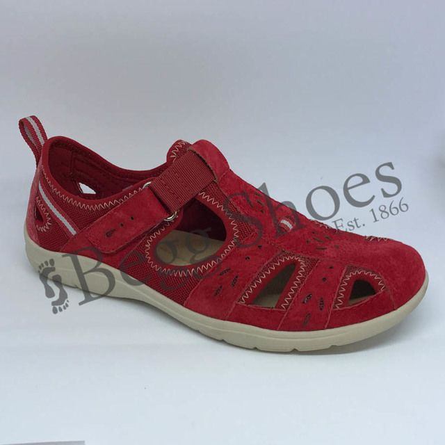 Earth Spirit Closed Toe Sandals - Red - 28050/80 CLEVELAND