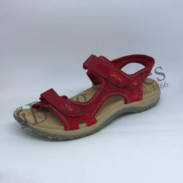 Earth Spirit Walking Sandals - Red - 28090/80 FRISCO
