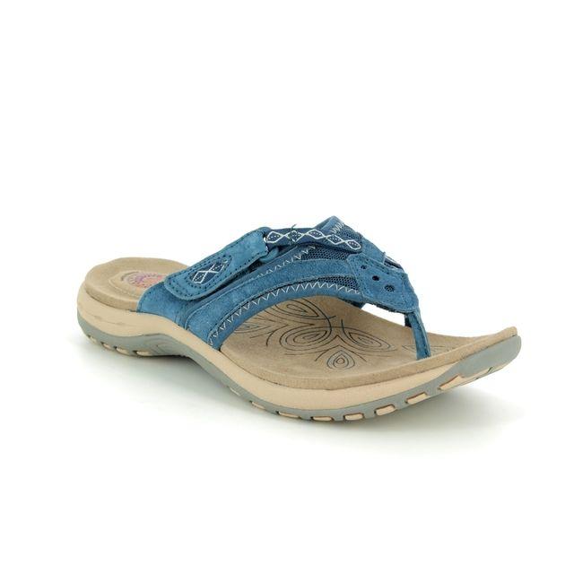 Earth Spirit Toe Post Sandals - Navy - 30222/70 JULIET 91