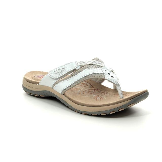 Earth Spirit Toe Post Sandals - White - 30223/66 JULIET 91