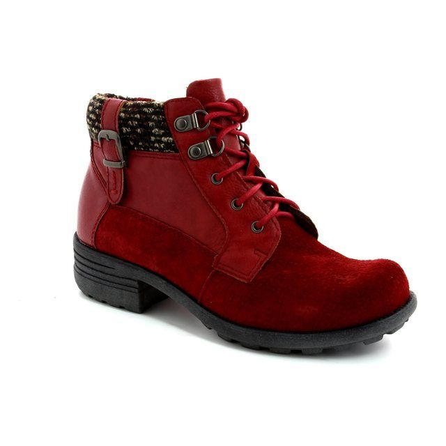 Earth Spirit Mobile 22115-80 Wine ankle boots