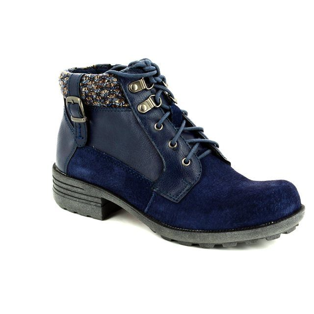 Earth Spirit Ankle Boots - Blue - 22116/70 MOBILE
