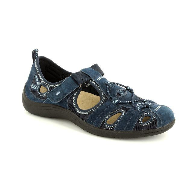 Earth Spirit Wichita 52 21009-70 Navy lacing shoes