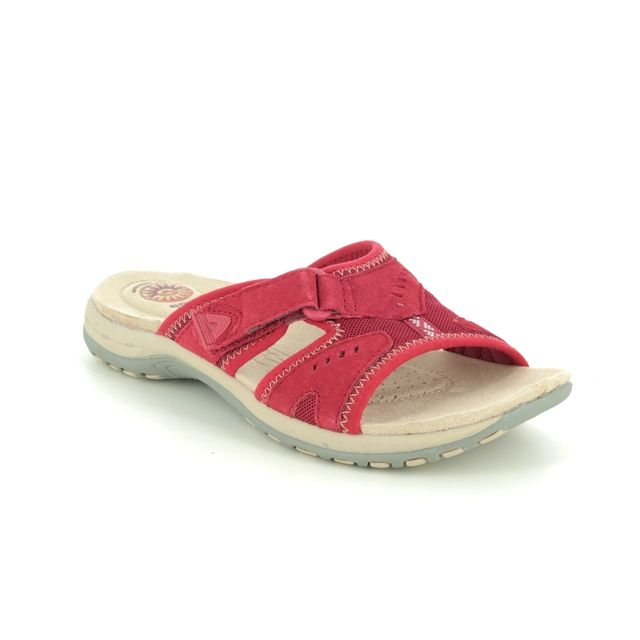 Earth Spirit Wickford 30515-80 Red leather Slide Sandals