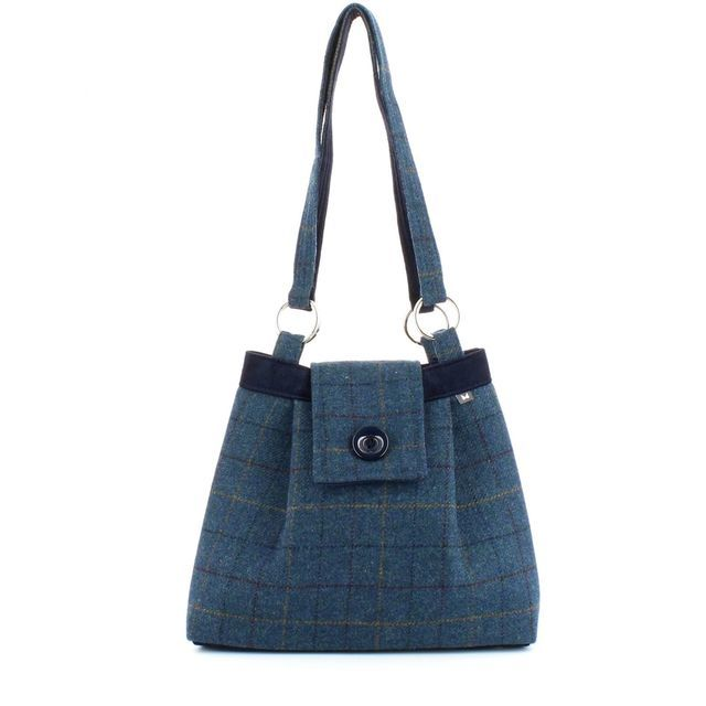 Earth Squared Ava Tweed Bag 1401-07 Navy multi handbag