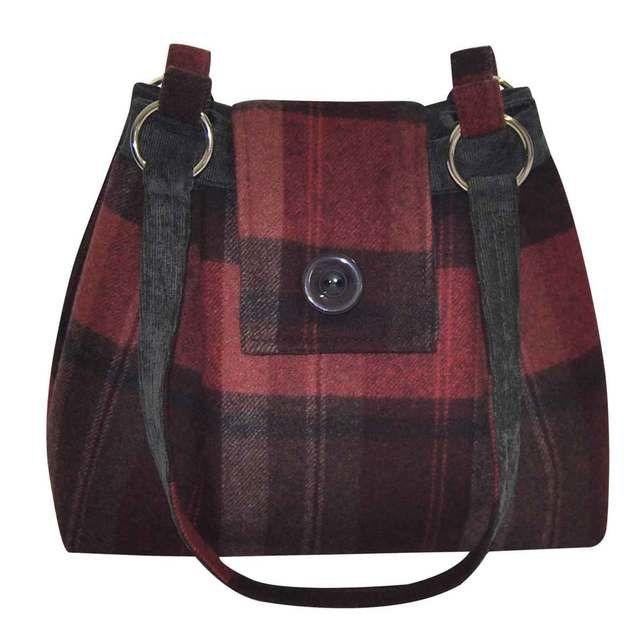 Earth Squared Ava Tweed Bag 1401-81 Red multi handbag
