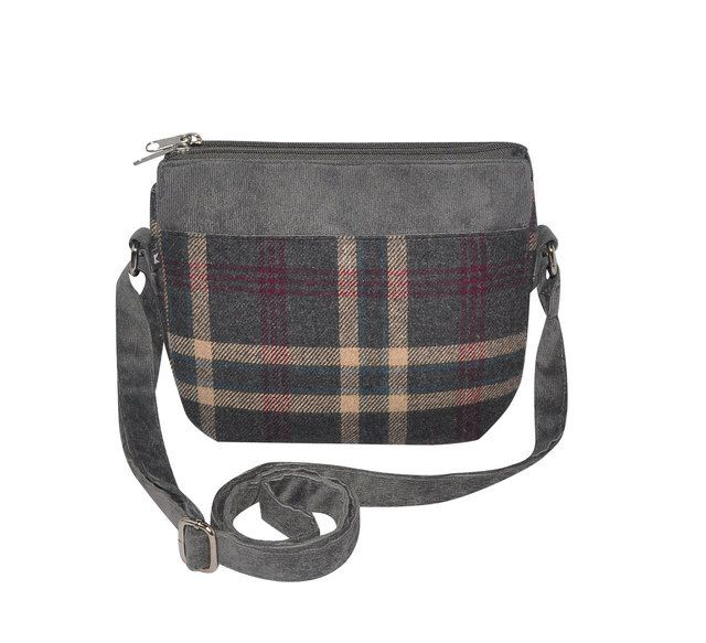 Earth Squared Ellie  Tweed 1403-00 Grey multi handbag