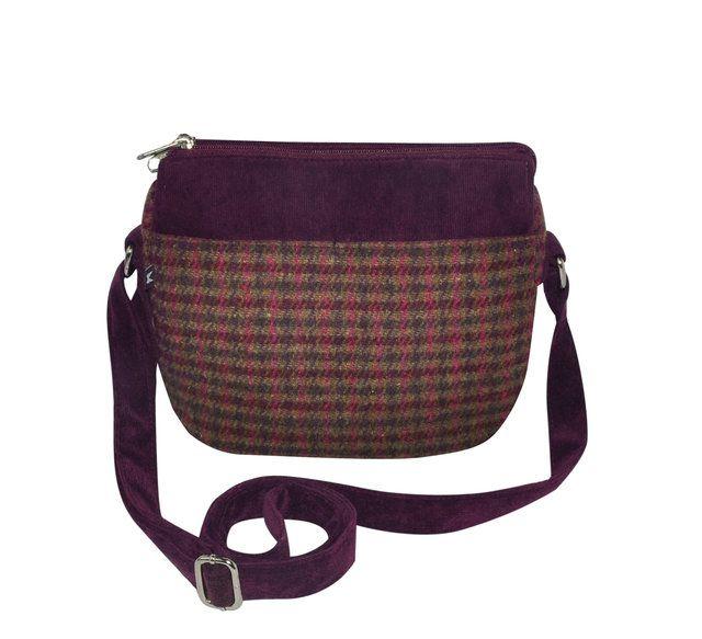 Earth Squared Ellie  Tweed 1403-80 Wine handbag