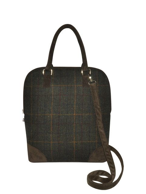 Earth Squared Marnie  Tweed 1204-21 Brown multi handbag
