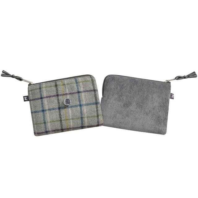 Earth Squared Tweed Freya Pur 1902-00 Grey multi purse
