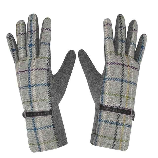 Earth Squared Gloves And Scarves - Grey muti - 1202/02 TWEED GLOVEs