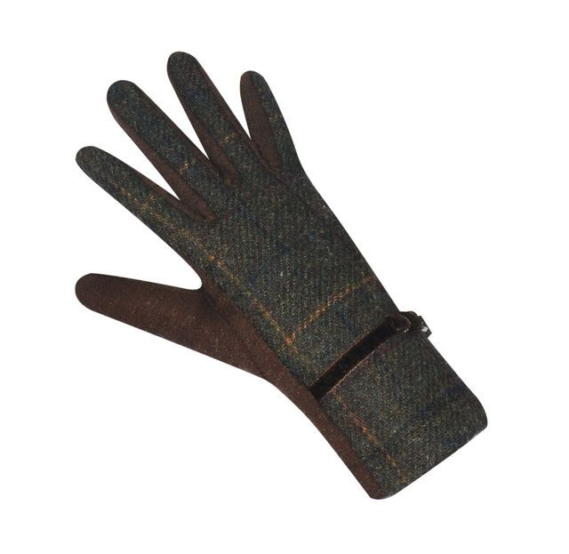 Earth Squared Tweed  Glove 1202-21 Brown multi bags