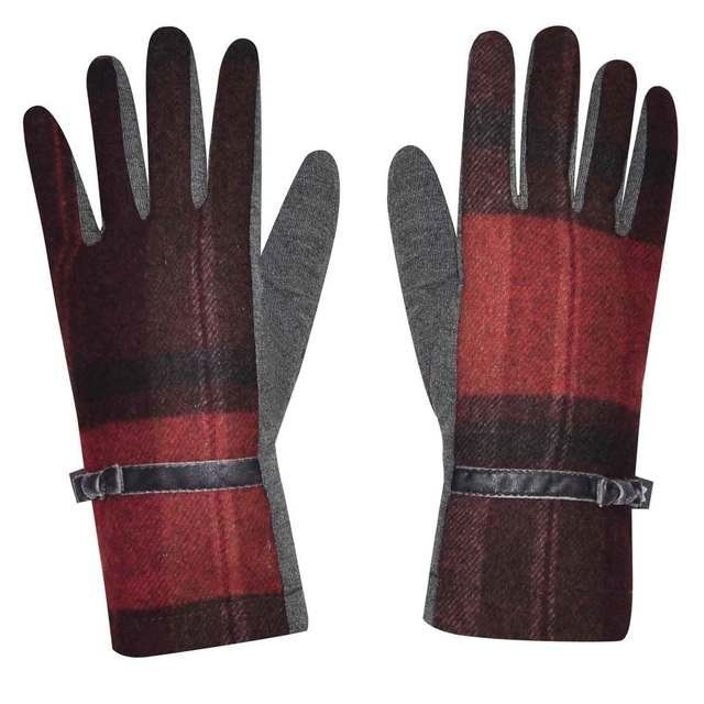 Earth Squared Tweed  Glove 1202-81 Red multi gloves and scarves