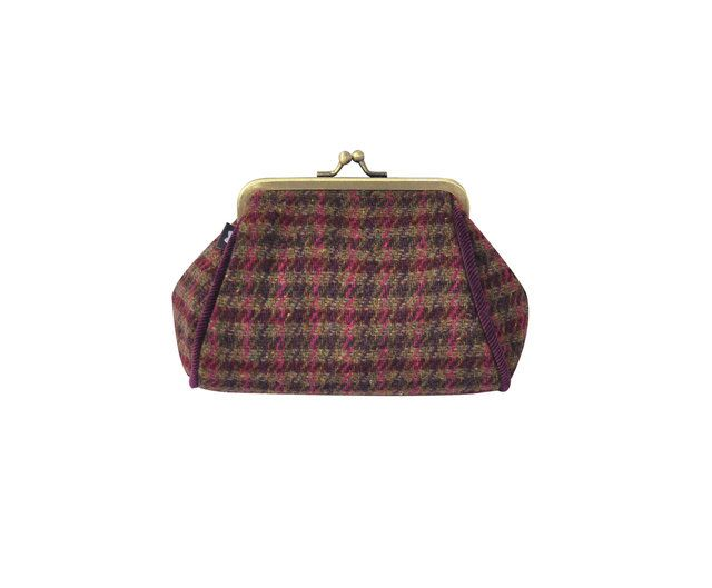 Earth Squared Tweed  Purse 1501-80 Wine purse