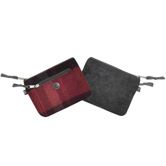 Earth Squared Tweed  Purse 1501-81 Red multi purse