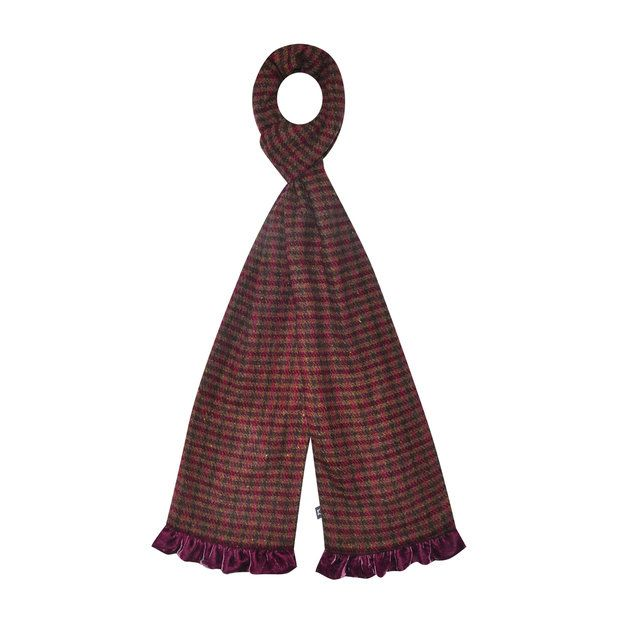 Earth Squared Bags - Wine - 1602/80 TWEED SCARF